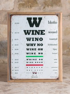 Wino Eye Chart with Frame